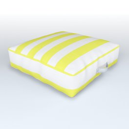 Stripes (Yellow & White Pattern) Outdoor Floor Cushion