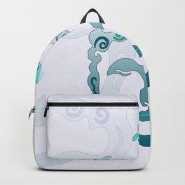Buddha Head turquoise I Backpack