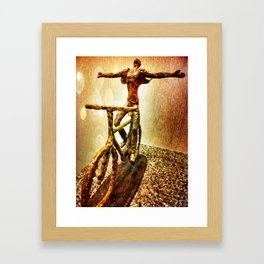 Ride Into The Light Framed Art Print