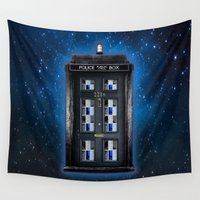 221b Wall Tapestries featuring new Tardis doctor who sherlock holmes 221b door iPhone 4 4s 5 5c, ipod, ipad, pillow case and tshirt by Three Second