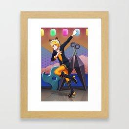 Orange Fox Framed Art Print