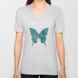 Deep Style Digital Pattern and Butterfly 00 Unisex V-Neck