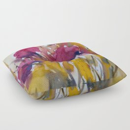 Abstract flowers (2) Floor Pillow