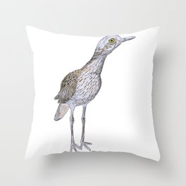 Suspicious Curlew Throw Pillow