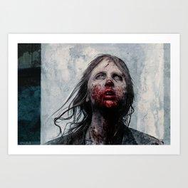 The Lone Wandering Walker - The Walking Dead Art Print