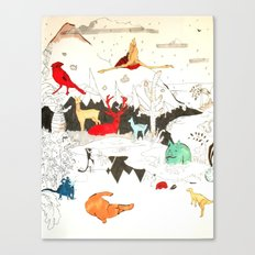 Animal illustration Canvas Print