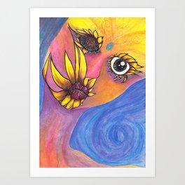 Mutated Iris Art Print