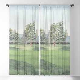 Winged Foot Golf Course New York Sheer Curtain