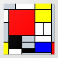mondrian Canvas Prints featuring Mondrian by Dizzy Moments