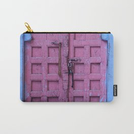 Pink Door In The Blue City, Jodhpur Carry-All Pouch