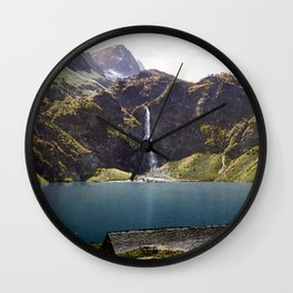 The Lake of Oô, Luchon, Pyrenees, France Wall Clock