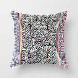 Song to Bring Blessings to a Marriage - Traditional Shipibo Art - Indigenous Ayahuasca Patterns Throw Pillow
