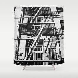 stairs black Shower Curtain