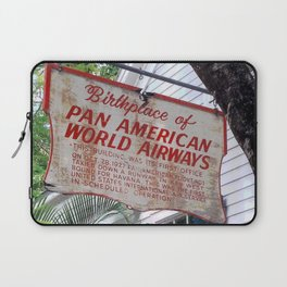 Historic Airlines Sign Laptop Sleeve
