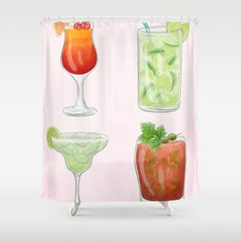 Summer Cocktails 4 Shower Curtain