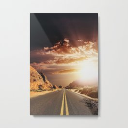 sunset on the valley of fire Metal Print