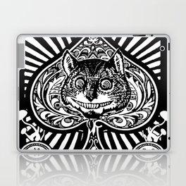 Cheshire Cat Black and White Laptop & iPad Skin