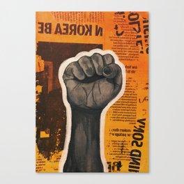 Raised Fist Canvas Print