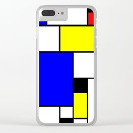 Colored Squares Art Clear iPhone Case