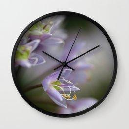 Delicate Purple Flowers Wall Clock