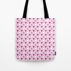 Valentine's Day - Pink Heart Pattern Tote Bag