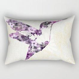 Purple Hummingbird Art Rectangular Pillow