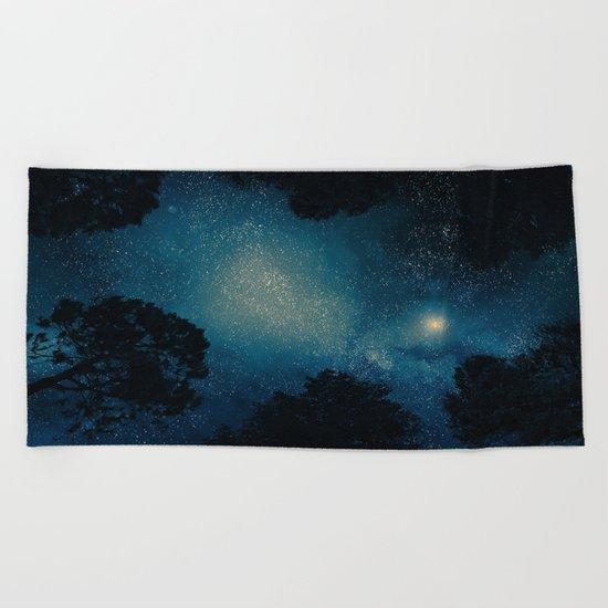Stars & Trees Beach Towel