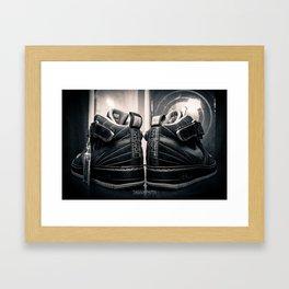 AJF12 B&W Framed Art Print