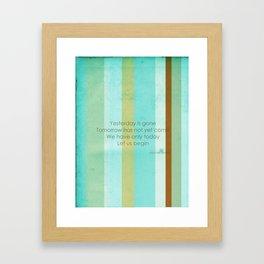 Carpe Diem Serie - Mother Teresa #inspirational Framed Art Print