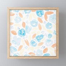Floral Pattern #2 | Retro Palette Framed Mini Art Print