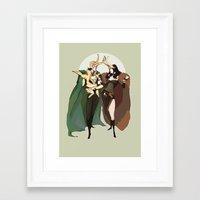 loki Framed Art Prints featuring loki by kthova