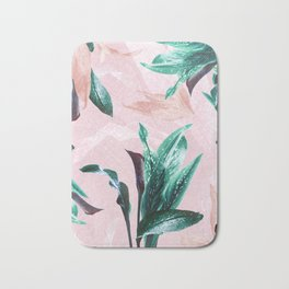 Tropical Floral on Pink. Odessa Calla Lily Bath Mat