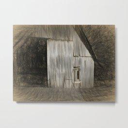 Barn Sketch Metal Print