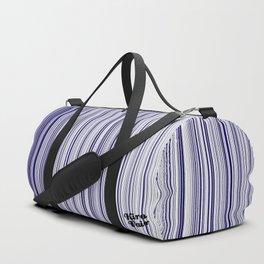 Blues Interrupted #kirovair #design #minimal #society6 #buyart #blue Duffle Bag