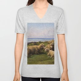 Sheep By The Sea - Digital Remastered Edition Unisex V-Neck