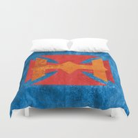 he man Duvet Covers featuring He-Man by Some_Designs
