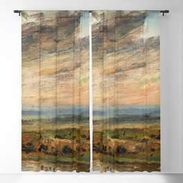 """John Constable """"Heath, with Pond and Bathers"""" Blackout Curtain"""