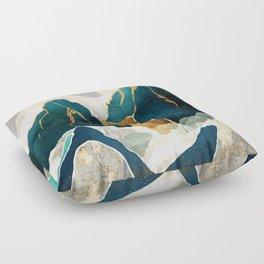 Golden Waterfall Floor Pillow