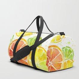 Fruit Watercolor Citrus Duffle Bag