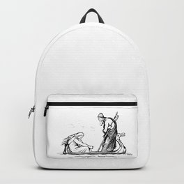 Norse Myth Frigg and Odin Sailing In Fensalir Backpack