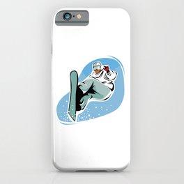 Snowboard Jump Cartoon iPhone Case