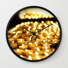 Prayer Candles in Church, Israel  Wall Clock