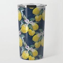 Lemons pattern Travel Mug