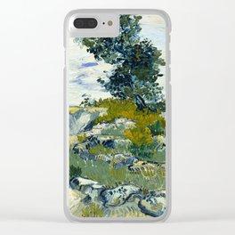Vincent van Gogh - The Rocks, 1888 Clear iPhone Case