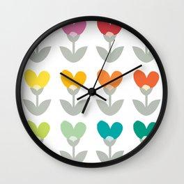 Heart petals Wall Clock