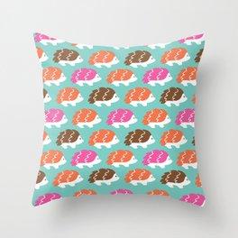 The Bashful Hedgehogs Throw Pillow
