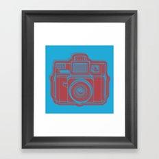 I Still Shoot Film Holga Logo - Blue & Red Framed Art Print