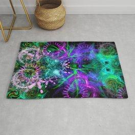 Moonlight Nausea, Starlight Vertigo (abstract, psychedelic, trippy) Rug