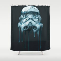 Stormtrooper Melting Dark Shower Curtain