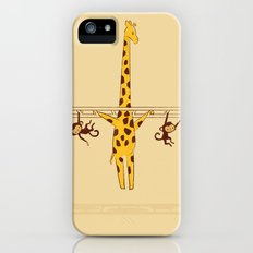 Frustrated Giraffe iPhone SE Slim Case